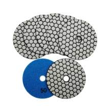 SHDIATOOL 7Pcs 4 Inch Dry Diamond Polishing Pads Grit 50 for Granite Marble Stone