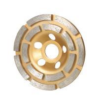 "KKmoon 100mm 4"" Diamond 2 Row Segment Grinding Wheel Disc Bowl Shape Grinder Cup 20mm Inner Hole for Concrete Granite Masonry Stone Ceramics Terrazzo Marble Building Industry"