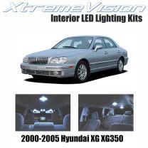 Xtremevision Interior LED for Hyundai XG XG350 2000-2005 (8 Pieces) Cool White Interior LED Kit + Installation Tool