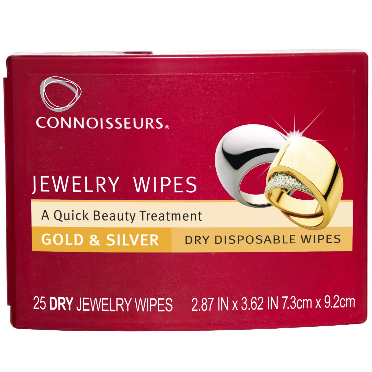 Connoisseurs 1051 Jewelry Wipes Jewely Cleaner, Silver 25 Count