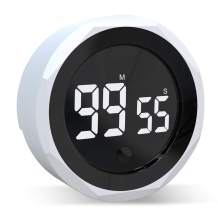 JUKI Digital Kitchen Timer for Kids, Kitchen Countdown Timer with Strong Magnet & Constant Brightness Digital Timers for Cooking, Studying, Fitness, Meeting