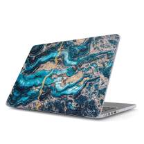 BURGA Hard Case Cover Compatible with MacBook Pro 15 Inch Case Release 2016/2017/2018, Model: A1990 / A1707 with Touch Bar Crystal Blue Marble