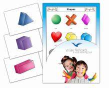 Yo-Yee Flashcards - Shapes Flash Cards - English Vocabulary Picture Cards for Toddlers 2-4 Years, Kids, Children and Adults