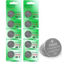 SKOANBE 10 Pack CR2430 DL2430 2430 3V Lithium Coin Battery
