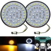 "ZYTC 2"" LED Turn Signals w/Running Light Bullet Style Front 1157 LED Turn Signal Kit for Harley Davidson"