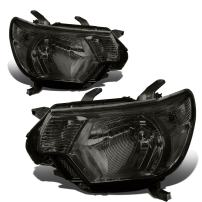 Replacement for Tacoma 2nd Gen Facelifted Pair of Smoked Lens Clear Corner Headlights