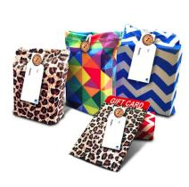 Gift Card Holders - Stretchy Fabric, Reusable and Eco Friendly - Mixed Patterns (Set of 5 Gift Card Holders with 5 FREE Gift Tags)