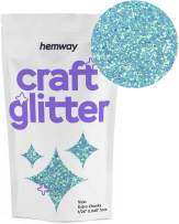 "Hemway Craft Glitter 100g 3.5oz Extra Chunky 1/24"" 0.040"" 1MM (Baby Blue)"