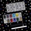 Outuxed 4320pcs Hotfix Rhinestones Set 12 Colors SS16/4mm and Clear Crystal 4 Sizes SS6-SS20/2-4.7mm Flatback Iron on Round Glass Gems for Clothes Shoes Crafts with Tweezers and Picking Rhinestones