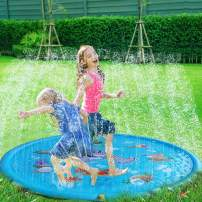 "Yonala Splash Pad,68"" Sprinkle & Splash Play Mat Toddlers Outdoor Water Play Toys for Baby Kids Boys Girls Infants Summer Party Sprinkler Spray Toy"
