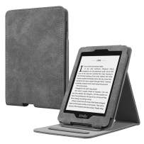 Fintie Flip Case for Kindle Paperwhite (Fits All-New 10th Generation 2018 / All Paperwhite Generations) - Slim Fit Vertical Multi-Viewing Stand Cover with Auto Sleep/Wake, Rustic Gray