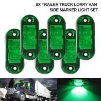 "6Pcs 2.5"" RV Marker Lights, Trailer Truck Led Side Marker Lights, 12V 24V Waterproof 67 Universal Fender Light Boat Marine Led Courtesy Lights Interior Lamps (2.5"", 6 Green)"