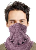 ROWILUX Men's Fleece Neck Warmer Cold Weather Windprood Ski Balaclava Face Mask