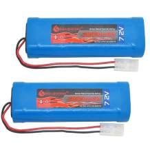 BAOBIAN 7.2v 3800mAh RC Battery Recharbeable for RC Car Tanks with Tamiya Plug(2 Pack)