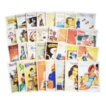 Fancyoung 32 PCS 1 Set Vintage Retro Old Poster Postcard Greeting Cards Souvenir Gifts for Worth Collecting