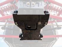 SuperATV Heavy Duty Front Suspension Frame Support for Polaris RZR RS1 (2018+) - Black - Adds Support and Stability