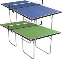 Butterfly Junior Ping Pong Table - 3/4 Size Table Tennis Table - Space Saver Game Table for Game Room - Regulation Height Ping Pong Table - Sturdy Frame - Ships Assembled with Net