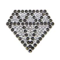Cryart Crystal Patch, Sticker, Decoration, Transparent Sheet, Flat BackCrystal (1.31.2 inch, 2mm Crystal, Small, Gem)