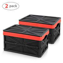 ORIENTOOLS Collapsible Storage Crate, Suitable for Spaces Like Home, Office, Truck, etc. Size 17 in x 12 in x 9 in, for Neat, Convenient Storage and Space-Saving, PP Material (2-Pack)