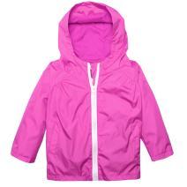 Zaclotre Baby Girl Boys Waterproof Plain Hooded Rain Jacket Outwear Raincoat with Hoodies