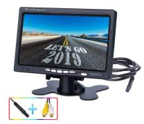JPP Upgrade Style 7 Inch LED Backlight TFT LCD Monitor Monitor with 2 Video Input for Car Rearview Cameras, Backup Camera, RV, Truck, Pickup, Van, Satellite Receiver and Other Video Equipment