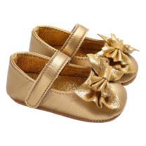 lakiolins Infant Girls Shiny Sequin Bowknot Princess Dress Shoes Photography Crib Shoes