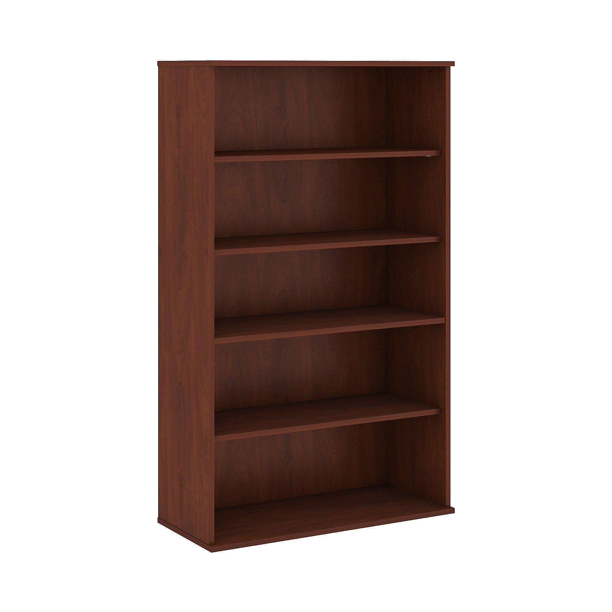 Bush Business Furniture 66H 5 Shelf Bookcase in Hansen Cherry