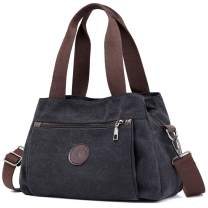 DOURR Hobo Handbags Canvas Crossbody Bag for Women, Multi Compartment Tote Purse Bags