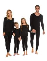 luxilooks Boys Girls Soft Fleece Lined Thermal Underwear 2 PC Set Long John Top and Bottom for 4-13 Years