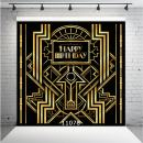 WOLADA 10x10ft Great Gatsby Backdrop for Adult Celebration Vintage Roaring 1920's Party Art Decorations The Roaring Twenties Birthday Wedding Photography backdrops Photo Studio Props 11078