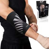 Physix Gear Sport Elbow Brace - Double Stitched Unisex Neoprene Compression Sleeve with Breathable Material for Joint Support - Keep Full Range of Motion and Help Treat Tendonitis
