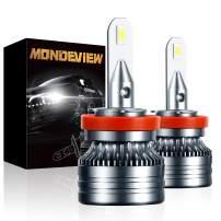 MONDEVIEW H11 Led Headlight Bulbs, CREE Chip 16000LM 60W 6000K Ultra-thin Design Ball 7 Bearing Fans H8 LED Fog Light Bulb Conversion Kit H9 LED Headlight Bulb H11 Led Fog Light Bulb Waterproof IP68