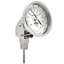 """Winters TBM Series Stainless Steel 304 Dual Scale Bi-Metal Thermometer, 2-1/2"""" Stem, 1/2"""" NPT Adjustable Angle Connection, 3"""" Dial, 0-200 F/C Range"""