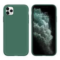 iPhone 11 Pro Case GUAGUA Liquid Silicone Soft Gel Rubber Slim Lightweight Microfiber Lining Cushion Texture Cover Shockproof Protective Phone Case for iPhone 11 Pro 5.8-inch 2019 Pine Green