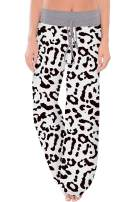 HAPCOPE Women's Casual Pajama Pants Wide Leg Drawstring Palazzo Lounge Pants