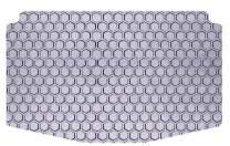 Intro-Tech JP-117-RT-G Hexomat Cargo Area Custom Fit Floor Mat for Select Jeep Cherokee Models w/Row Up - Rubber-Like Compound, Medium, Gray