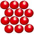 Bluedot Trading 12-Piece Floating LED Tea Lights, Red