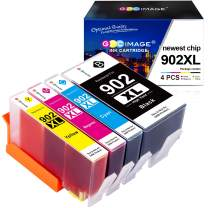 GPC Image Compatible Ink Cartridge Replacement for HP 902XL 902 XL Ink to use with OfficeJet Pro 6968 6978 6958 6962 6954 6960 6970 6979 6950 6975 Printer (Black, Cyan, Magenta, Yellow, 4 Pack)