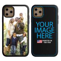Custom iPhone 11 Pro Cases by Guard Dog - Personalized - Make Your Own Protective Hybrid Phone Case (Black, Dark Blue)