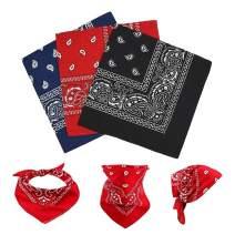 12 PCS Bandanas, 22'' Headband Bandanas Handkerchief, Paisley Print Scarf