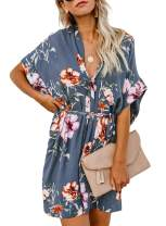 Eytino Women Bathing Suit Cover ups Bikini Swimsuit Tassel Beach Dress(3 Colors,S-XL)