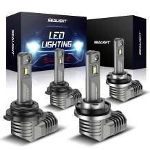 SEALIGHT 9005 H11 LED Headlight Bulbs Bundle, 10%-off Promotion, 300% Brighter High Low Beams, 1:1 Halogen Size Desigh, Plug-N-Play Easy Installation, 6000K Cool White
