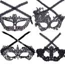 Halloween Costume Women Masks Masquerade Ball Lace Masquerade Mask for Christmas Party Pack of 4