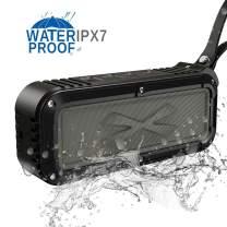 Wireless Bluetooth Speaker,Waterproof Outdoor Bluetooth Speaker with IPX7 Stereo HD Audio and Enhanced Bass,Dual Driver Speaker,Handsfree Calling,FM Radio (Outdoor speakers-B01)
