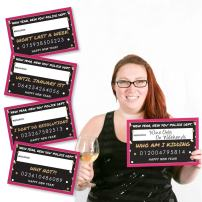 Big Dot of Happiness Pop, Fizz, Clink - New Year's Resolutions Photo Booth Props Party Mugshot Signs - 20 Count