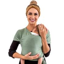 WeeSprout Baby Wrap Carrier - Perfect Baby Carrier Wrap Sling for Newborn and Infant - Enhances Baby Bonding - Soft and Breathable - Ideal for Babywearing (Rosemary Stitch)