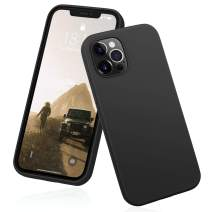 """DTTO Compatible with iPhone 12/12 Pro Case,Shockproof Silicone [Romance Series] Cover [Enhanced Camera and Screen Protection] with Honeycomb Grid Cushion for iPhone 12 6.1"""" 2020,Black"""
