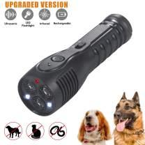 Proud Panda Dog Barking Deterrent Devices,Handheld Ultrasonic Dog Repellent Anti Barking Device Rechargeable with LED Flashlight Infrared Good Behavior Dog Training[Upgraded Version]