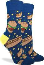 Good Luck Sock Women's Burgers & Hotdogs Socks - Blue, Adult Shoe Size 5-9