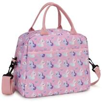 Lunch Bag for Girls, Insulated Lunch Box Bag Cute Unicorn Thermal Lunch Tote with Removable Shoulder Strap, VONXURY